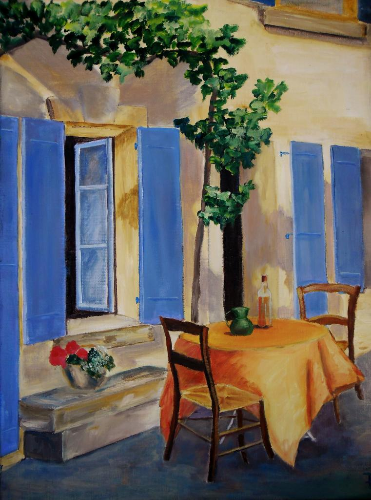 The blue shutters